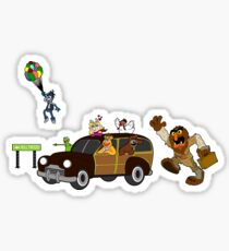 Getting there is half the fun come share it with me Sticker