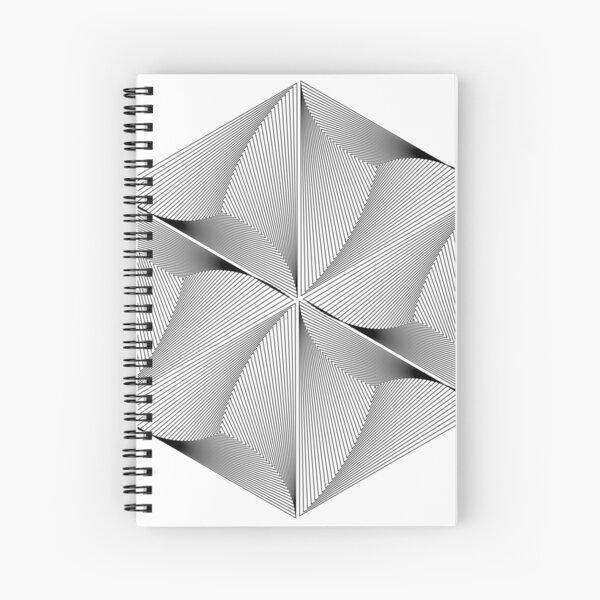 Infinite hexagon design Spiral Notebook
