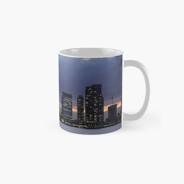 Sunset on the Hudson River New York Photography Classic Mug