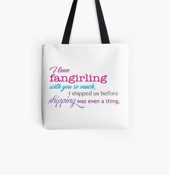 pop culture - fangirling All Over Print Tote Bag
