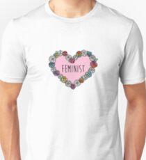 Feminist Flower Heart Unisex T-Shirt