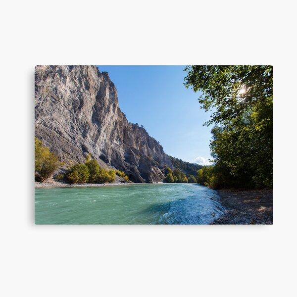 Canyon of the River Rhine  Leinwanddruck