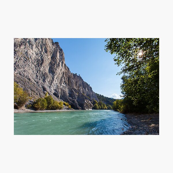 Canyon of the River Rhine  Fotodruck
