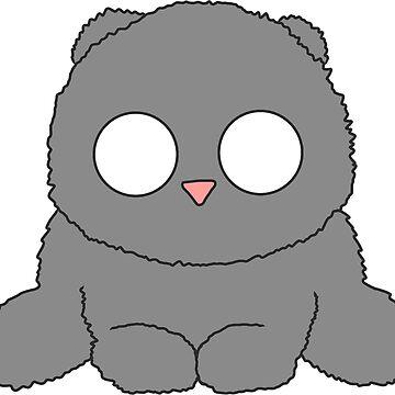 Fluffy grey kitty by Chabadu