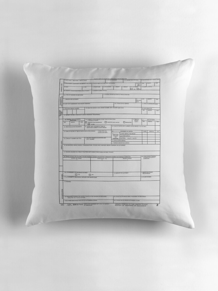 "My Portable DD 214 Veteran Pride T Shirt"" Throw Pillows by"
