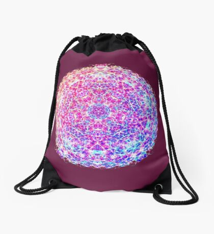 Giant planet Drawstring Bag