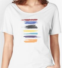 Paint Strokes Artistic Abstract Color Streaks Women's Relaxed Fit T-Shirt