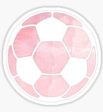 Fußballkugel Pink Sticker