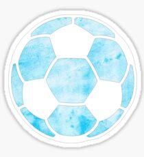 Fußball Hellblau Sticker