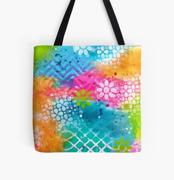 """""""Rainbow"""" Original Design by PhillipaheART All Over Print Tote Bag"""