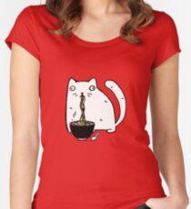 Rasabi Cat - Ramen Forever Women's Fitted Scoop T-Shirt