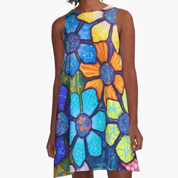 """Flower Power"" Original Design by PhillipaheART A-Line Dress"