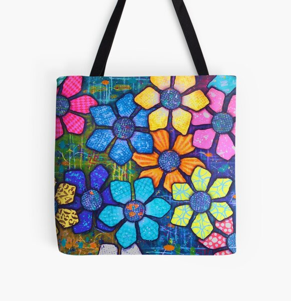 """""""Flower Power"""" Original Design by PhillipaheART All Over Print Tote Bag"""