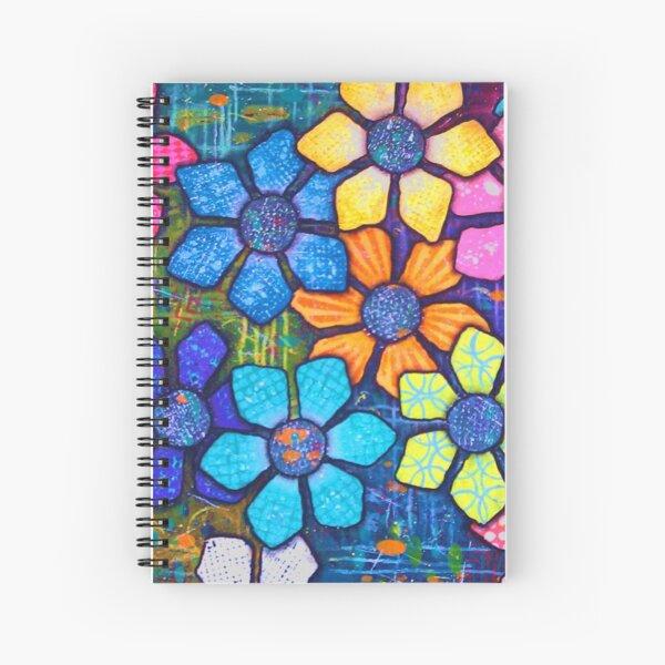 """Flower Power"" Original Design by PhillipaheART Spiral Notebook"