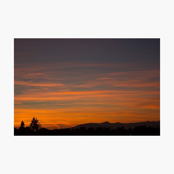 The land the sunset washes Photographic Print