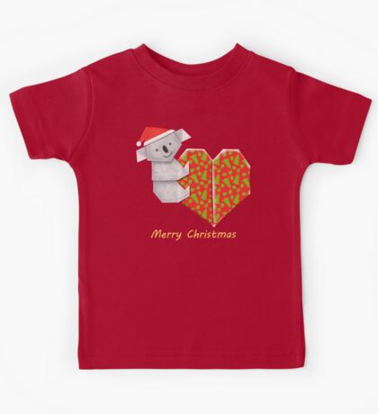 Koala Origami and its Heart gift wrapped for Christmas  Kids Clothes