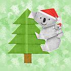 Origami Koala and Baby on Christmas Tree by JumpingKangaroo