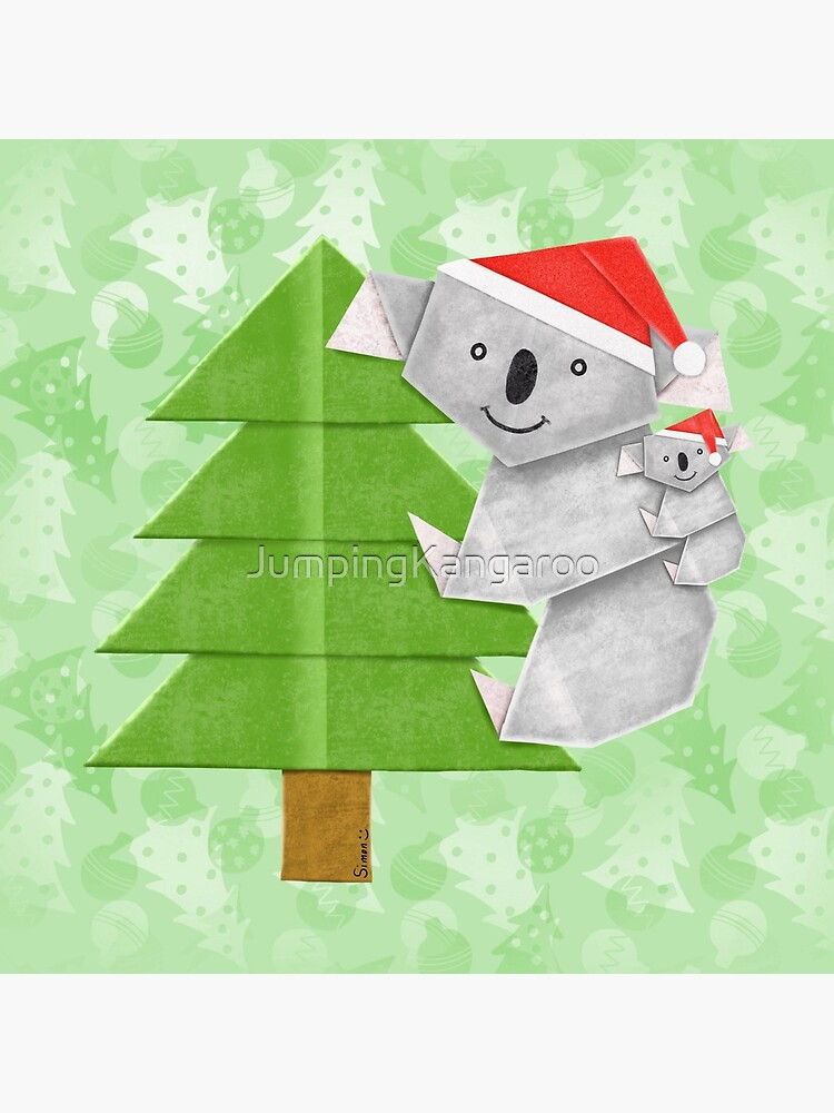 Origami Koala and Baby on Christmas Tree by JumpingKangaroo