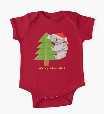 Origami Koala and Baby on Christmas Tree Kids Clothes