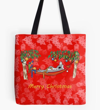 Koala Relaxing Hammock - Merry Christmas Tote Bag