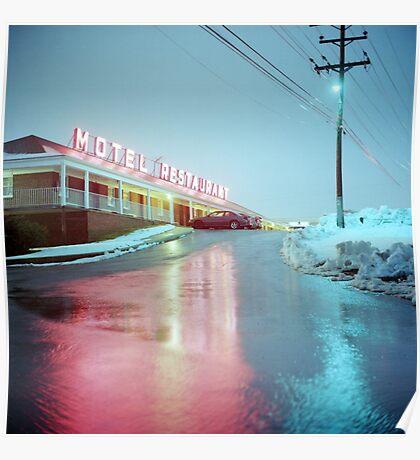 Rainy Motel Lights  Poster
