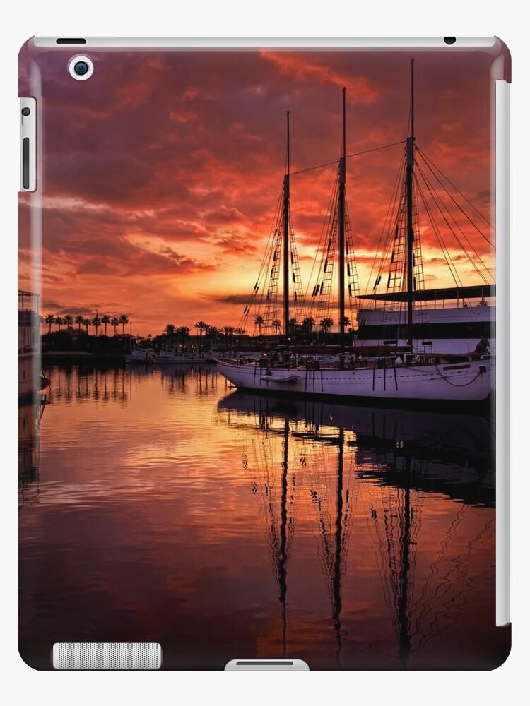 Rainbow Harbor sunset for iPad by Celeste Mookherjee