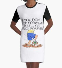 Moving Forward Graphic T-Shirt Dress
