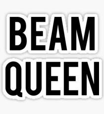 BEAM QUEEN - BLACK TEXT Sticker