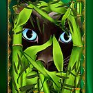 Siamese Cat Eyes in Bamboo by Lotacats