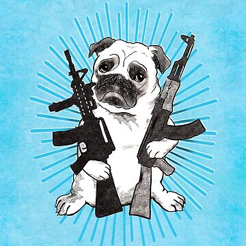 BAD dog – blue armed pug by JennyHolmlund
