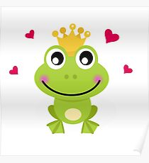 Frog prince. Vector cartoon illustration / New art in atelier Poster
