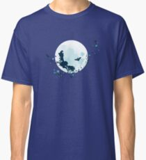 Flying Witch over Full Moon 2 Classic T-Shirt
