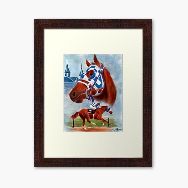 Secretariat Triple Crown Winner Framed Art Print