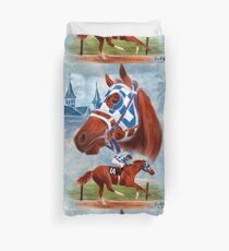 Secretariat Triple Crown Winner Duvet Cover
