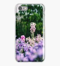 Pink and purple floral print  iPhone Case/Skin