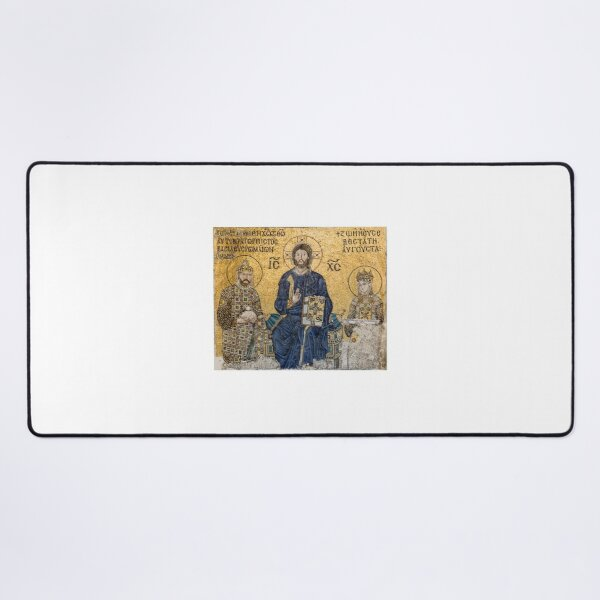 Mosaic of the Empress Zoe in the Hagia Sophia, 1239 Desk Mat