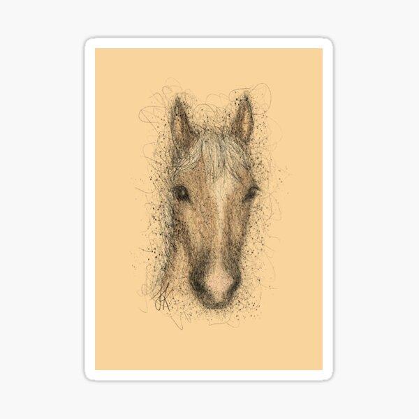 Haflinger mit Hintergrund Sticker