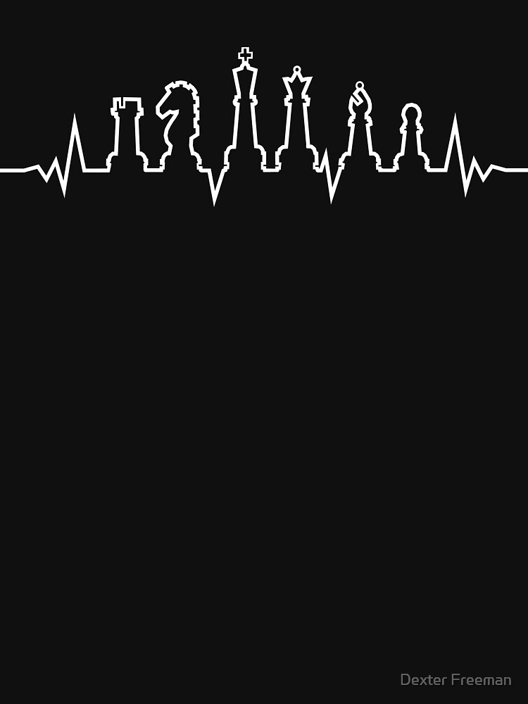 Chess Heartbeat Gift for Chess Lovers and Chess Club Fans by FouadRed