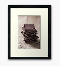 Stack of Chocolate Framed Print
