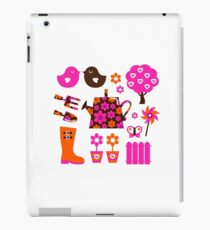 Spring and gardening icons set / new floral artwork iPad Case/Skin