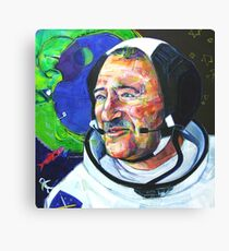I and Cosmonaut Neil Armstrong painting - 2008 Canvas Print