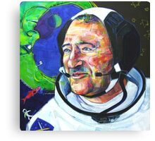 I and Cosmonaut Neil Armstrong Canvas Print