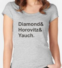 diamond horovitz yauch Women's Fitted Scoop T-Shirt