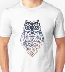 Tribal Owl Starry Sky Unisex T-Shirt