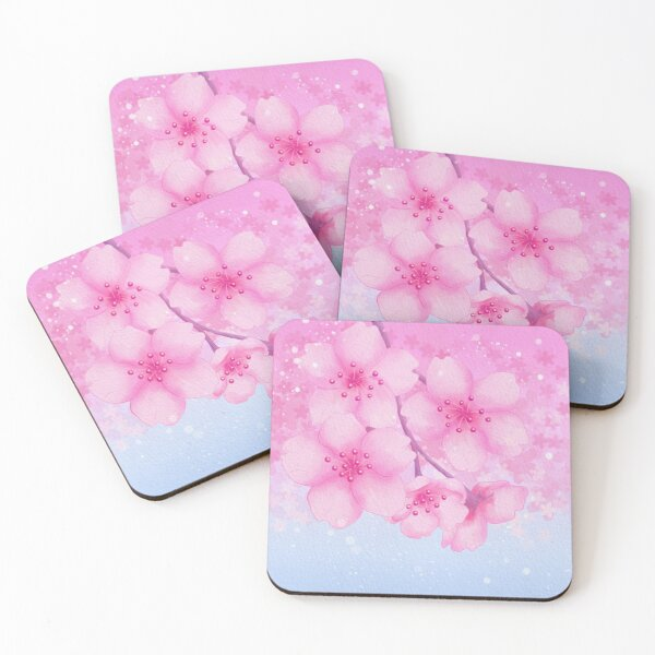 Cherry Blossoms Coasters (Set of 4)