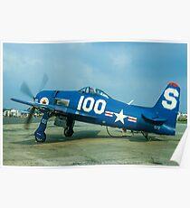 Grumman F8F-2P Bearcat NX700H S-100 Poster