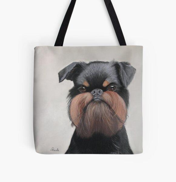 Belgian griffon portrait All Over Print Tote Bag