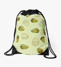 Green acorns pattern Drawstring Bag