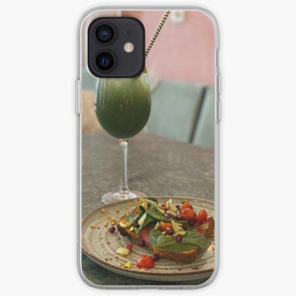 PHOTOGRAPHY IMAGE PINEAPPLE JUICE LEMON KIWI ICE , CESAR SALAD WITH TOAST iPhone Soft Case