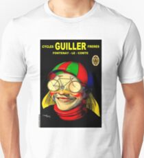 GUILLER CYCLES; Vintage Bicycle Advertising Prints Unisex T-Shirt